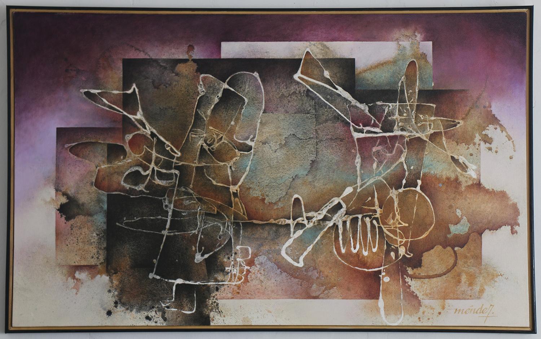 "Alfonso Martinez-Mendez  / ""Despotic Memory"" / Acrylic / 32x52 / $1500"