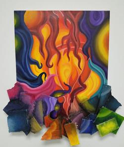 "Kristian Morataya-Martinez / ""Me, Myself, and The Broken Pieces"" / Oil On Canvas / 22x20 / NFS"