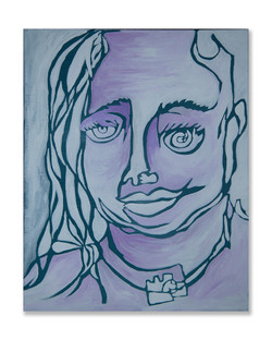 """Jessica King / """"Settling Into My Lines"""" / Acrylic On Canvas / 16x20 / $275"""