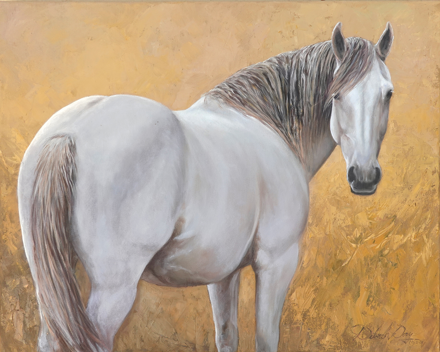 "Deborah Day / ""Wyoming Gray"" / Oil / 24x30 / $1800"