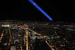 "Joyce Shelton / ""Eiffel Tower Moon Beam"" / Fine Art Photography / 16x24 / $85"