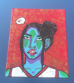 """Isabelle Valmores / """"No."""" / Acrylic Paint / 8x10 / NFS"""