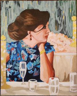 "Nada Fakhreddine / ""At the Wedding"" / Acrylic / 8x10 / $120"