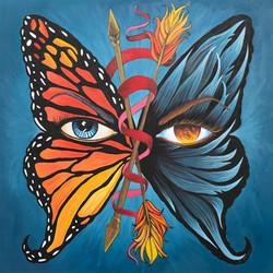 "Mireya Marrero / ""Beautiful Betrayal"" / Acrylic / 18x18 / $1000"