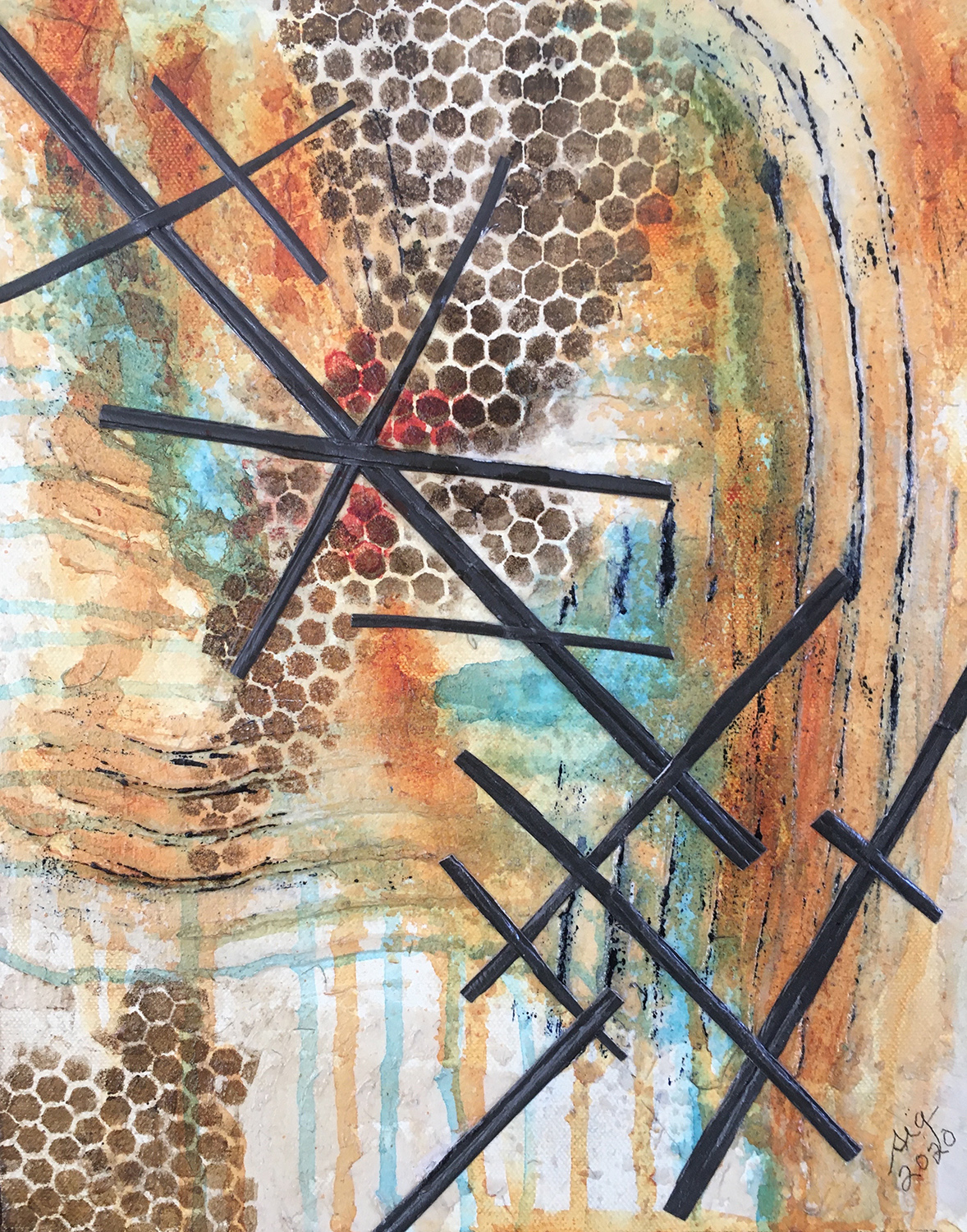 "Sandra Grimley / ""Intersections"" / Mixed Media / 11x14 / $199"
