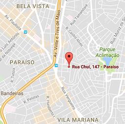 rua chui,147 - paraíso - são paulo
