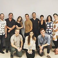 Cast and creative team of the first work