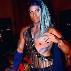 Sometimes I do makeup on other people too. The glorious _mermanjax from _labyrinthmasquerade a few w