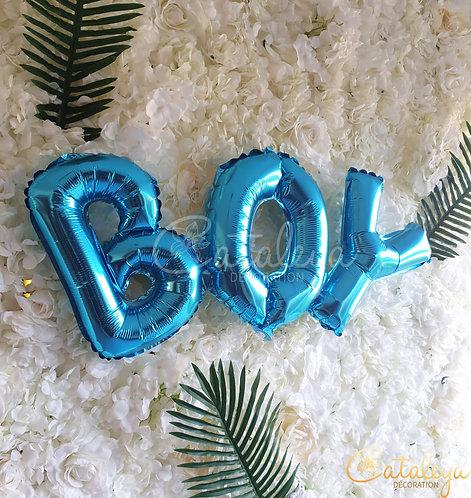 GIRL ou BOY - Ballon effet aluminium