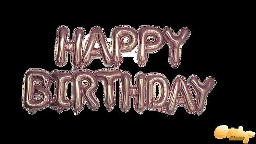 Happy Birthday - Ballon effet aluminim