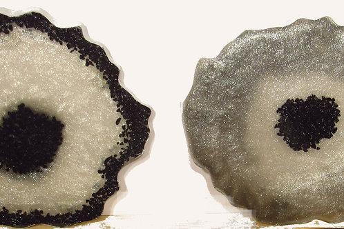 Black Glass/resin Coasters