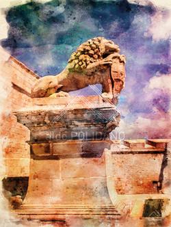 MDINA GATE LION