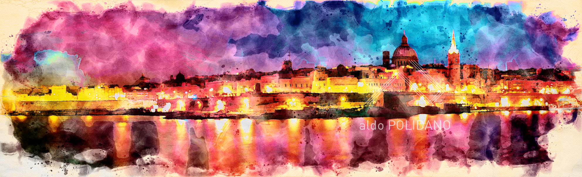 VALLETTA Panoramic Aldo•••ABSTRACT ART c
