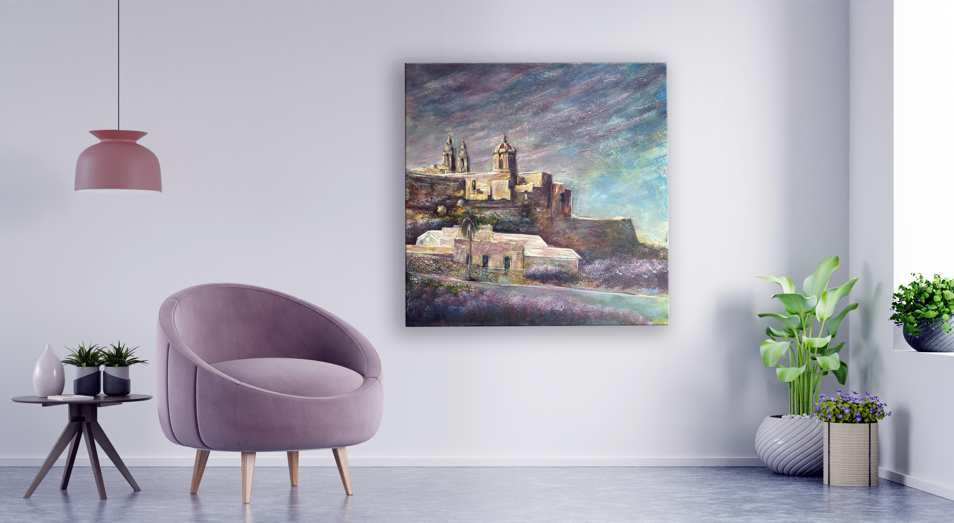 Mdina 100x100cm Acrylic on Canvas - Coro