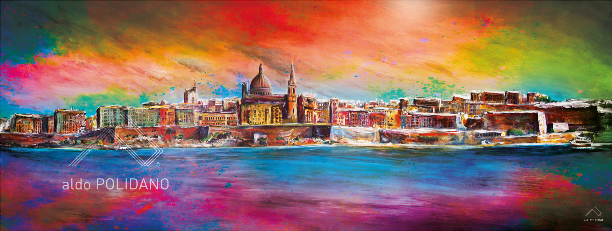VALLETTA SKYLINE PAINTING