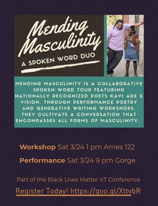 Mending Masculinity Spoken Word Duo