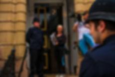D-2 Police on stairs.jpg