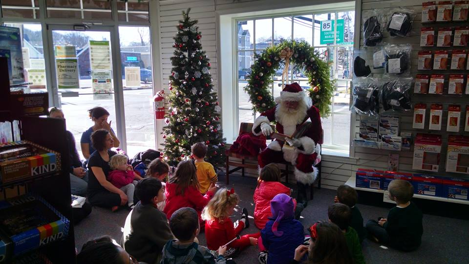 Santa at Hopkinton Drug