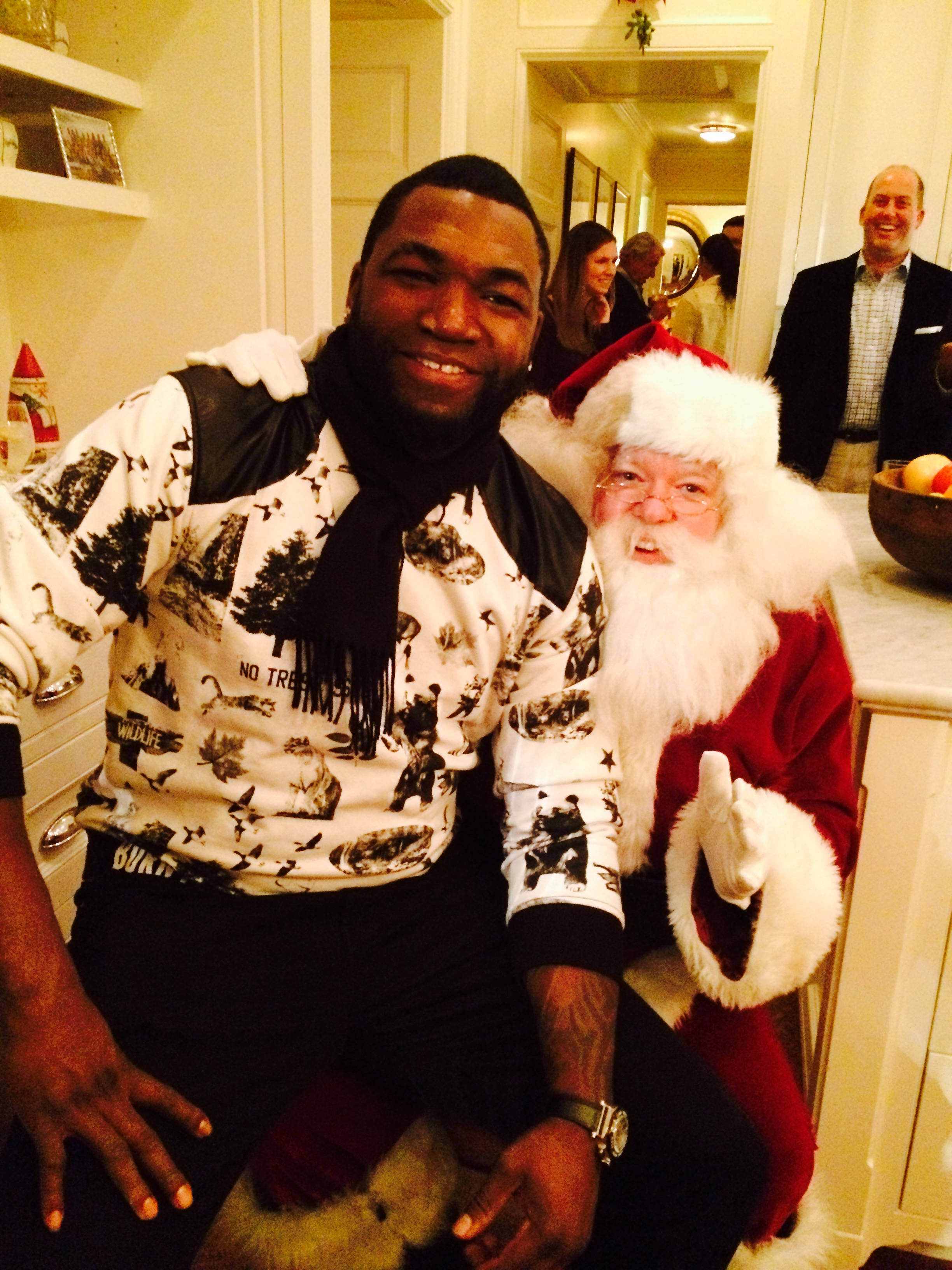 "David ""Big Papi"" Ortiz and Santa Jim"