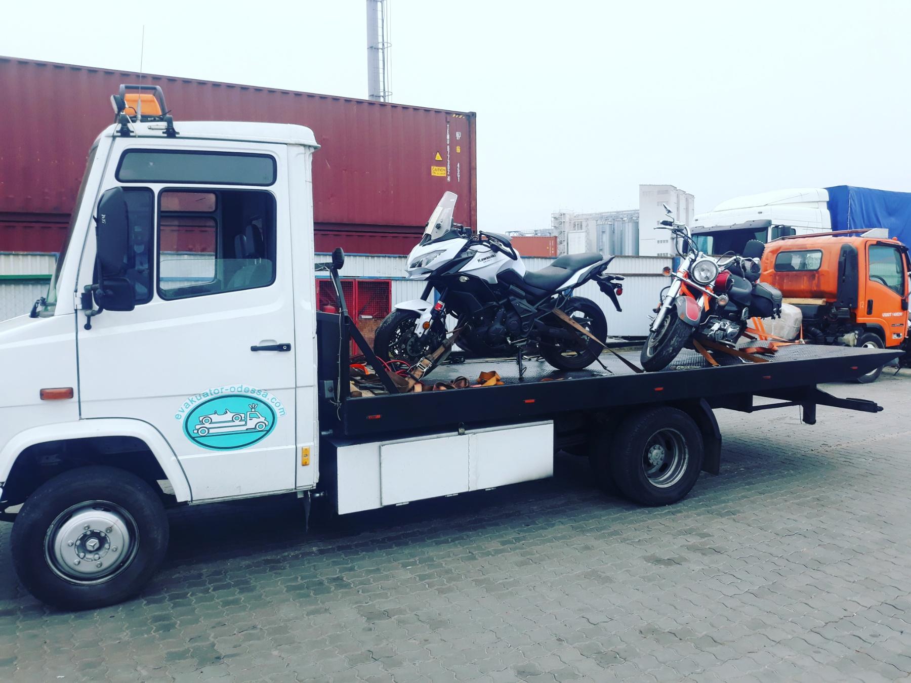 эвакуатор Одесса мотоцикл байк