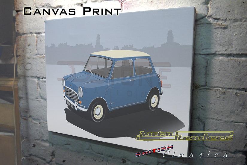 Mini Cooper Mk1 on Canvas - 12x8 to 36x24