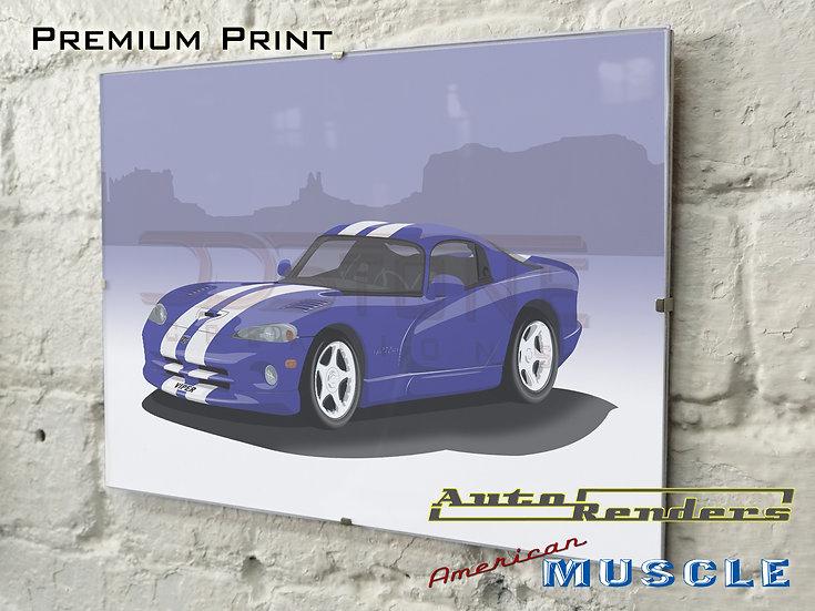 Dodge Viper GTS on Premium Poster - 12x8 to 45x30