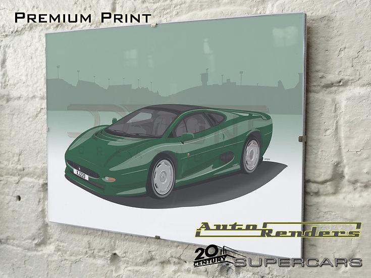 Jaguar XJ220 on Premium Poster - 12x8 to 45x30