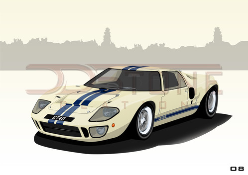 The Ford Gt Was Designed Specifically To Beat Ferrari At The Lemans Hrs Based On The Lola Mk The Gt Did Just That In  Taking All  Podium