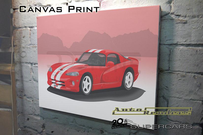 Dodge Viper GTS on Canvas - 12x8 to 36x24