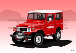 Toyota Land Cruiser Blood Red Offroad