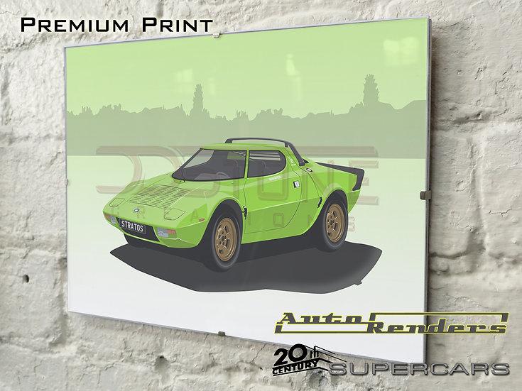 Lancia Stratos HF on Premium Poster - 12x8 to 45x30