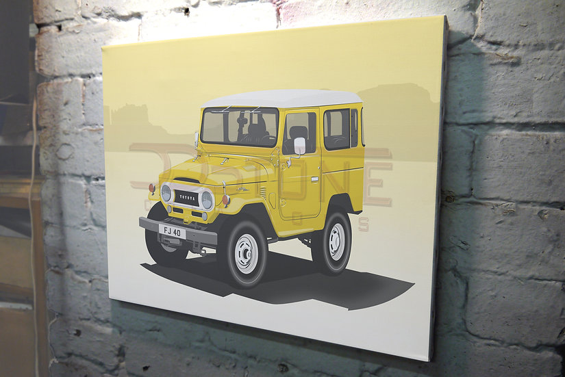 Toyota 40 Series Land Cruiser on Canvas - 12x8 to 36x24