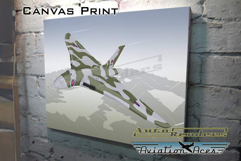 Avro Vulcan B2 XH558 on Canvas - 12x8 to 36x24