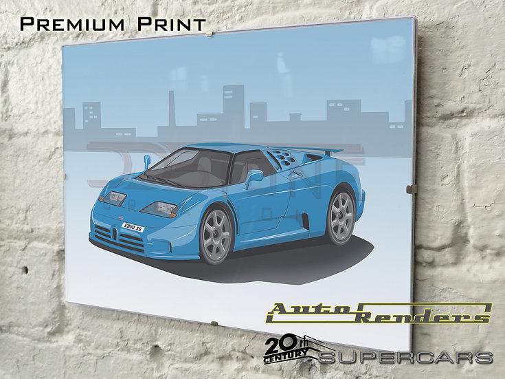 Bugatti EB110 Super Sport on Premium Poster - 12x8 to 45x30