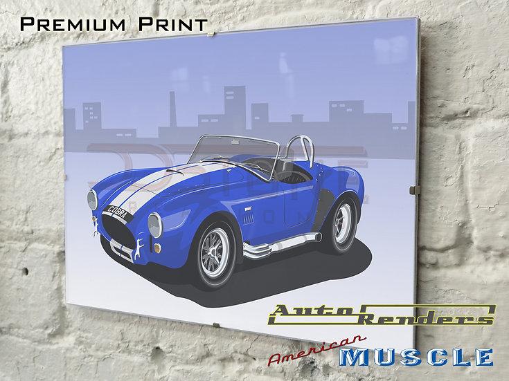 Shelby/AC Cobra 427 V8 on Premium Poster - 12x8 to 45x30