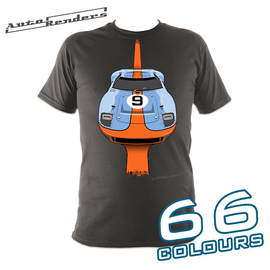 Ford GT40 Le Mans 1968 & 1969 Gulf T-Shirt