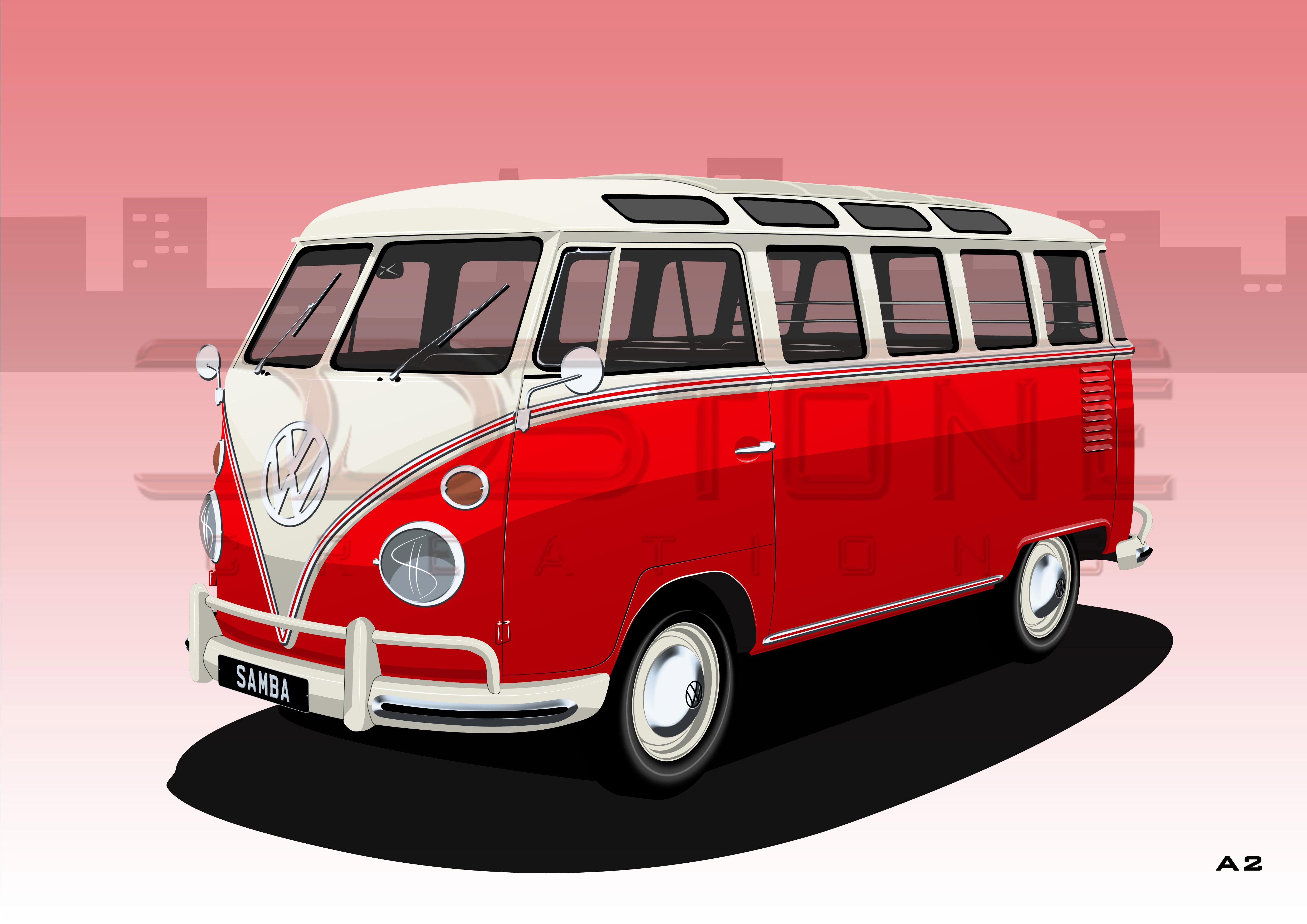 VW Microbus Samba 23 Window