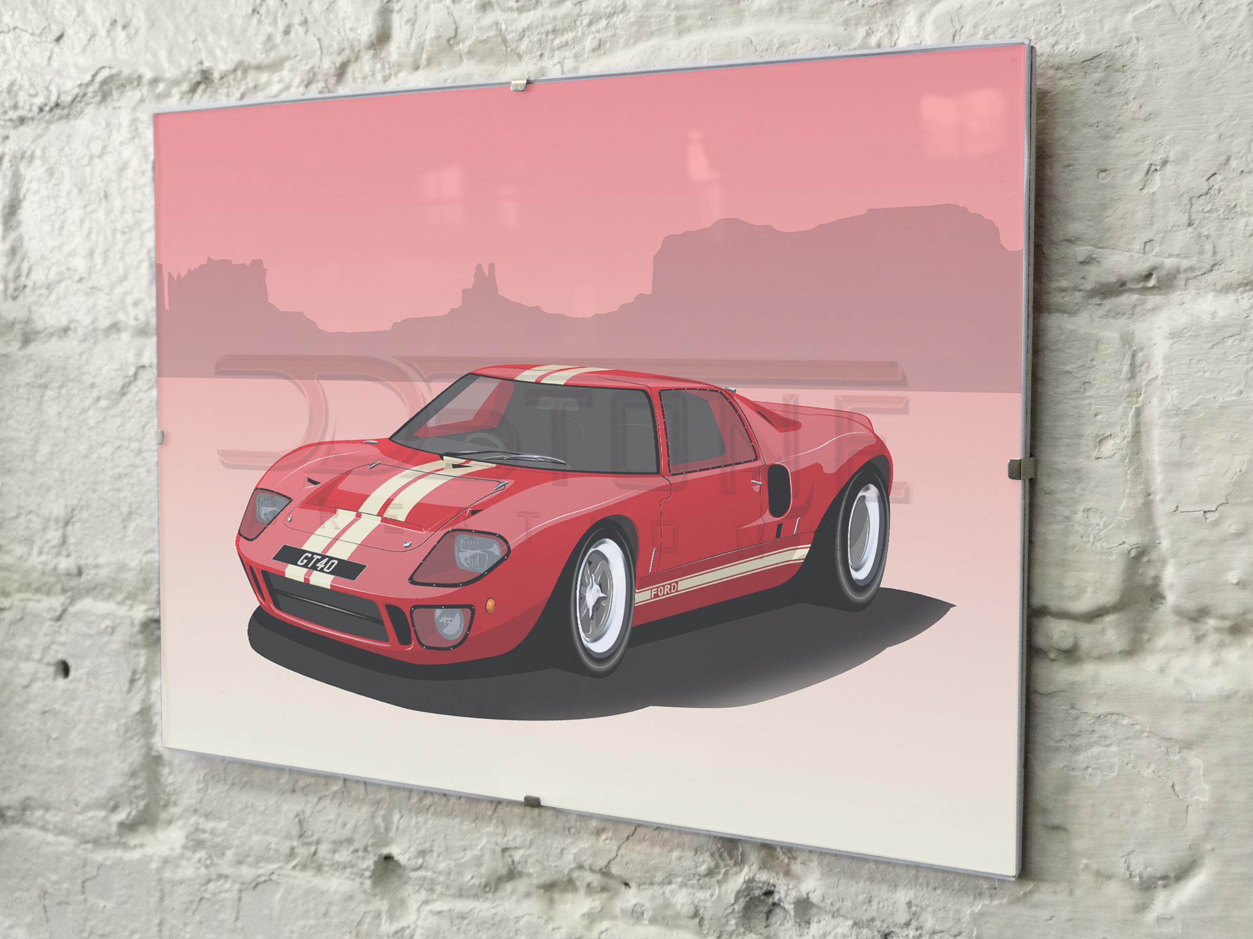 Ford GT40 Mk1 Print
