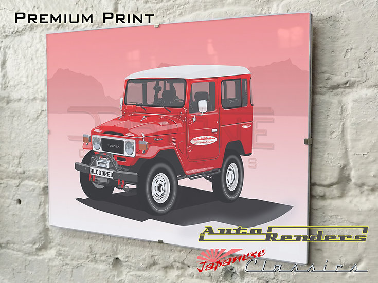 Toyota Land Cruiser 40 Series on Premium Poster - 12x8 to 45x30