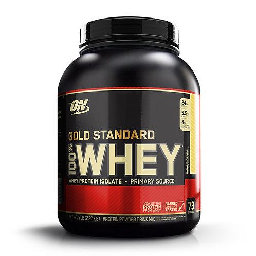 Optimum Nutrition 100% Whey Gold Standard Banana Cream (5lbs) - Product View