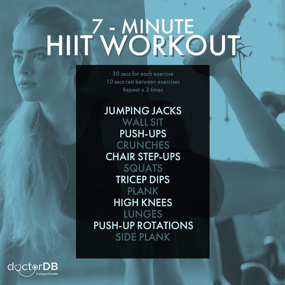 7 minute HIIT workout sequence