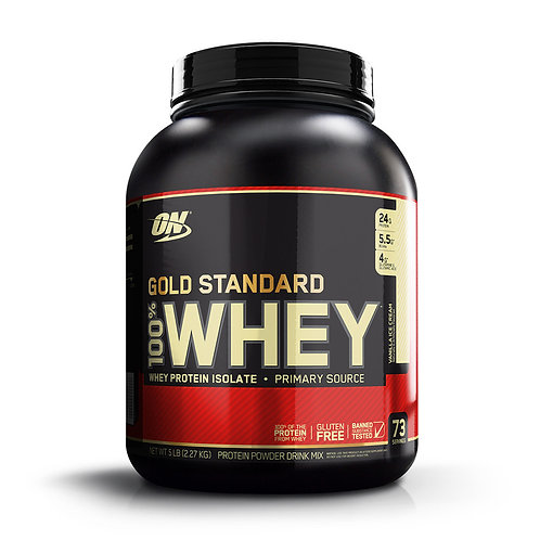 Optimum Nutrition 100% Whey Gold Standard Vanilla Ice Cream (5lbs) - Product View