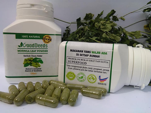 GoodDeeds Moringa Leaf Powder Capsules