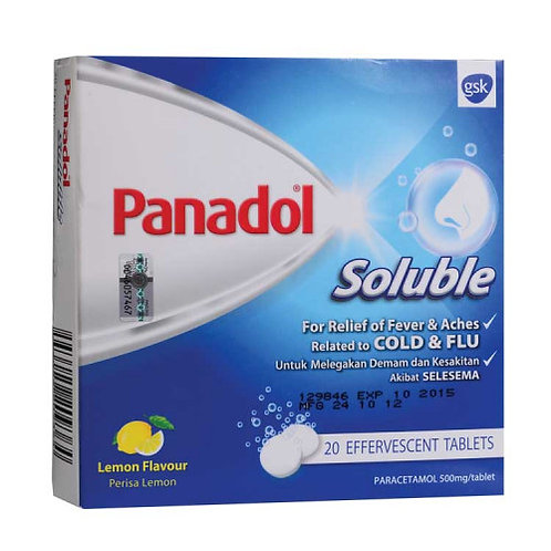 Panadol Soluble 20 Tablets | Fever, Headache, Cold & Flu