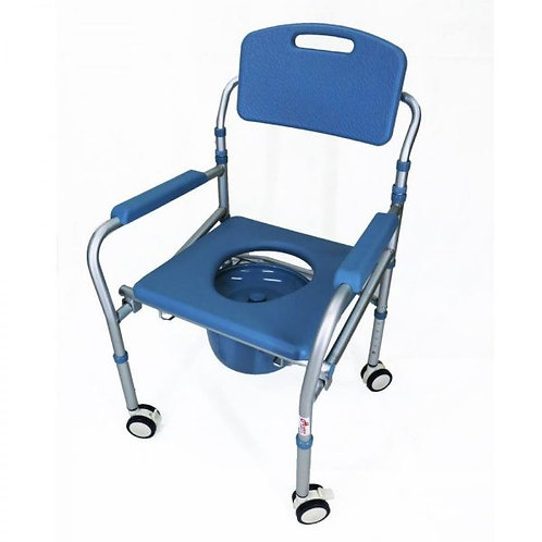 Commode & Shower Chair: Foldable & Mobile