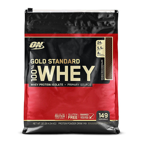Optimum Nutrition 100% Whey Gold Standard Double Rich Chocolate (10.36lbs) - Product View
