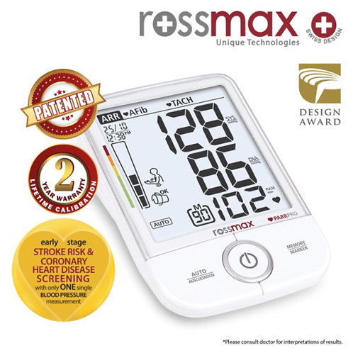 ROSSMAX PAR PRO Professional Blood Pressure Monitor X9 | Marketing View