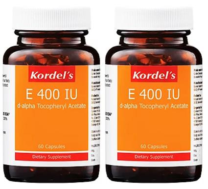 Kordel's E 400 IU (2X60S) - General Health