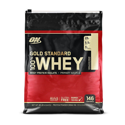 Optimum Nutrition 100% Whey Gold Standard Vanilla (10.35lbs) - Product View