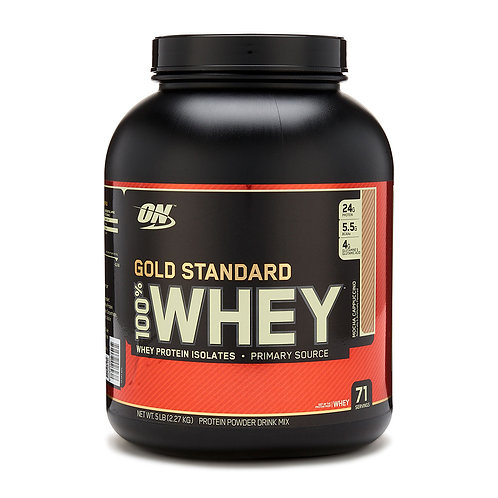 Optimum Nutrition 100% Whey Gold Standard Mocha Cappuccino (5lbs) - Product View